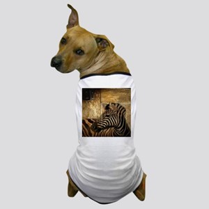 rustic wood safari zebra Dog T-Shirt